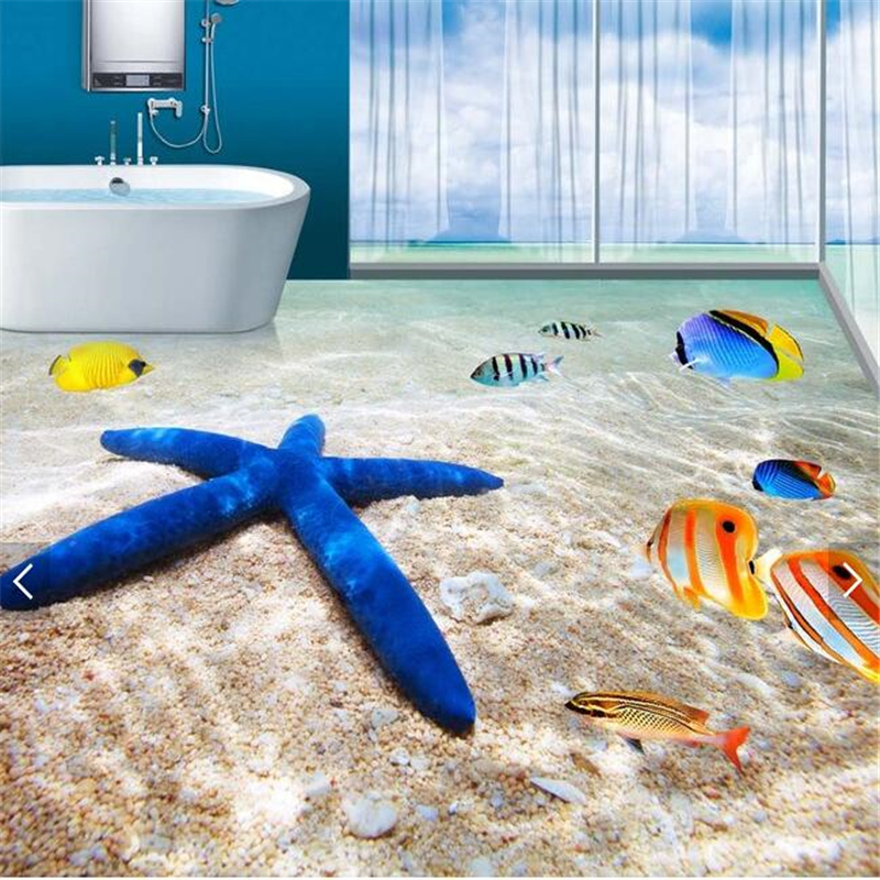 beibehang starfish painting HD Waterproof Bathroom kitchen balcony PVC Wall  paper wall sticker Floor mural wall. Online Get Cheap Starfish Bathroom Decor  Aliexpress com   Alibaba