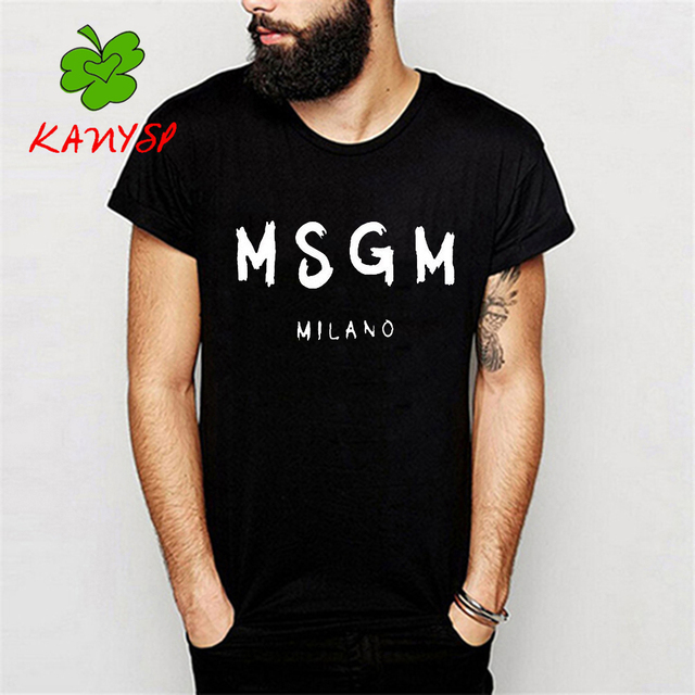 Latest Collections Sale Online Marketable For Sale Lettering print shirt Msgm Free Shipping Amazing Price Amazon Footaction ZnJPCkNhek