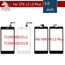 цена на For ZTE Blade L3 T120500E1V1.1 T120481E1V1.0 HN V993W L3 Plus Touch Screen Digitizer Sensor Outer Glass Lens Panel Replacement