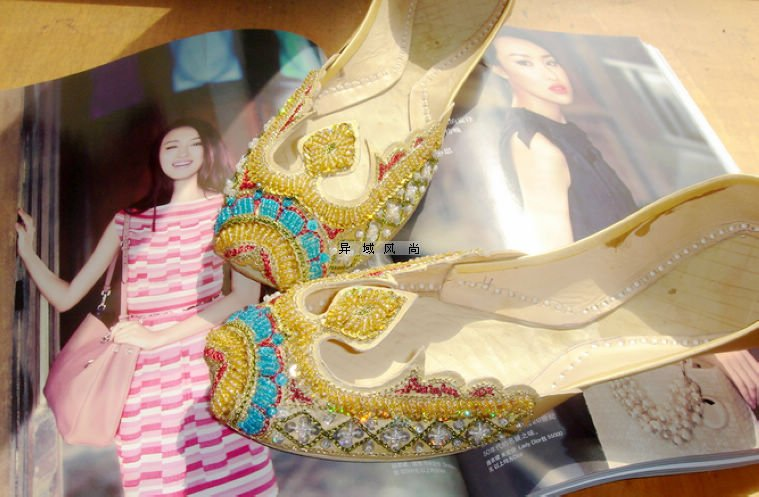 2012 new Bohemia shoes indian/pakistan style summer Women