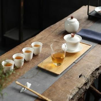 TANGPIN ceramic gaiwan with 4 cups handmade a tea sets chinese kung fu tea sets drinkware
