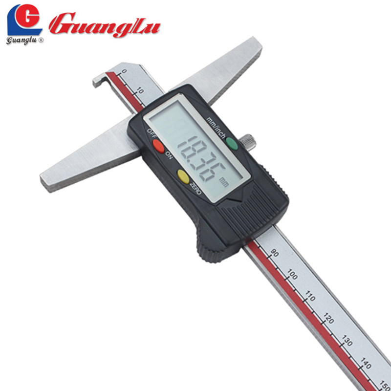 Electronic Measuring Equipment : Guanglu digital caliper depth mm single hook