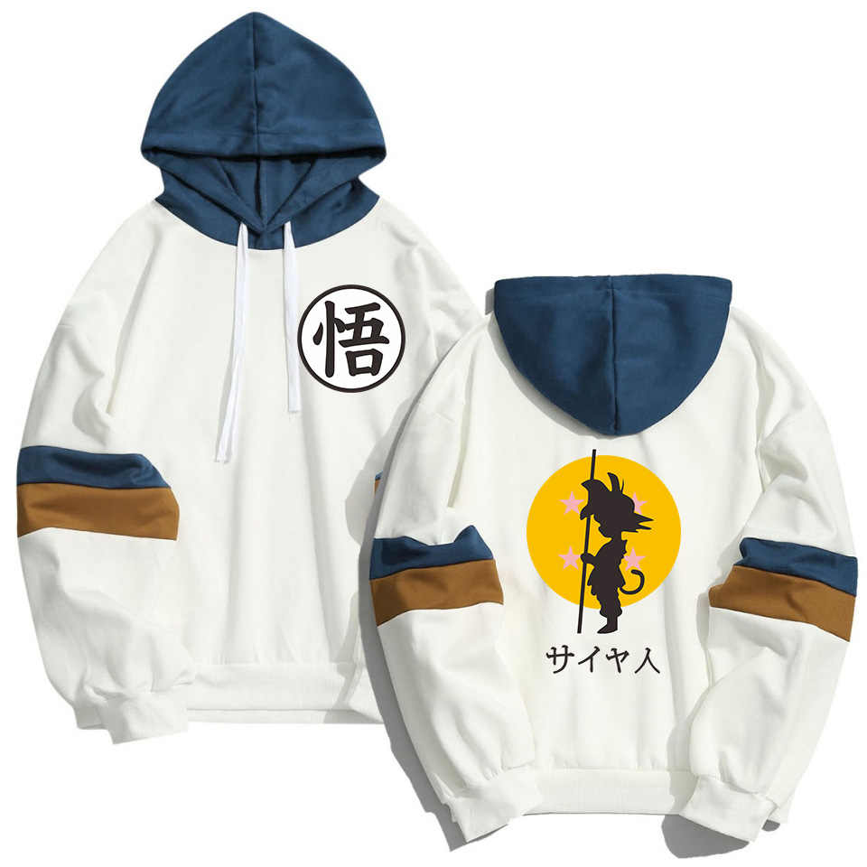 Spring Summer Anime Japan Harajuku Hoodies Men Women DRAGON BALL Goku Sweatshirt Streetwear Hip Hop Harajuku Patchwork Sudaderas
