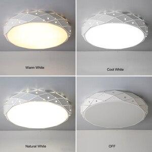 Image 3 - Yeni Modern LED tavan avizeler için avizeler oturma odası yatak odası mutfak halka avize aydınlatma Ac90 260V alüminyum fikstür