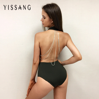 2016 New Fashion Bodysuits Solid Color Sexy Backless Halter Overalls For Women