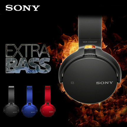 SONY MDR-XB650BT EXTRA basse Bluetooth NFC casque sans fil Bluetooth casque stéréo sans fil, noir avec micro NFC