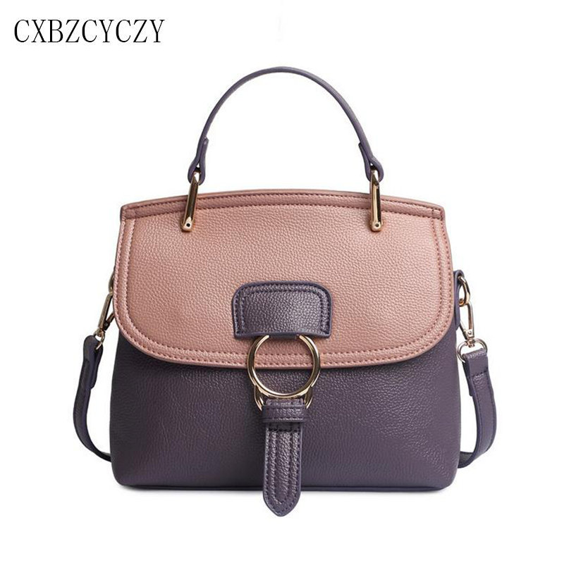 High Quality PU Leather Women Top-handle Bag Small Women Messenger Bag Girls Shoulder Bag Fashion Brand Designer Women Handbags