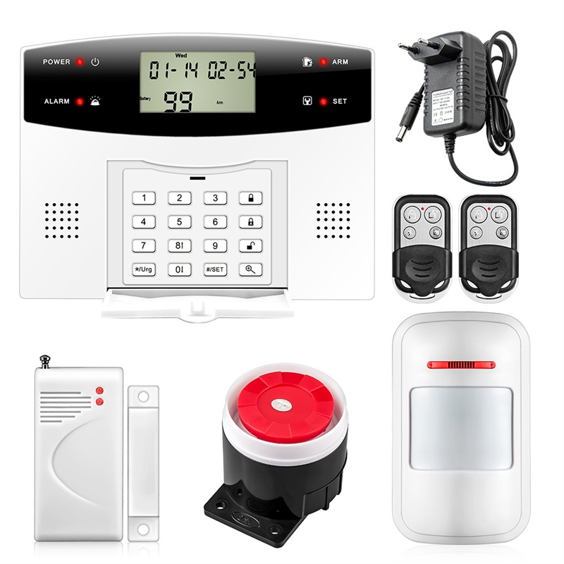 G2 Both Wireless Wired Security Home GSM PSTN Alarm System Russian Spanish French with rechargeable battery