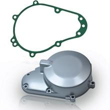 Крышка картера мотоцикла статора Крышка двигателя с прокладкой Подходит для Kawasaki ZZR400 ZZR600 ZX600 ZX600E Ninja ZX6E 93-2004