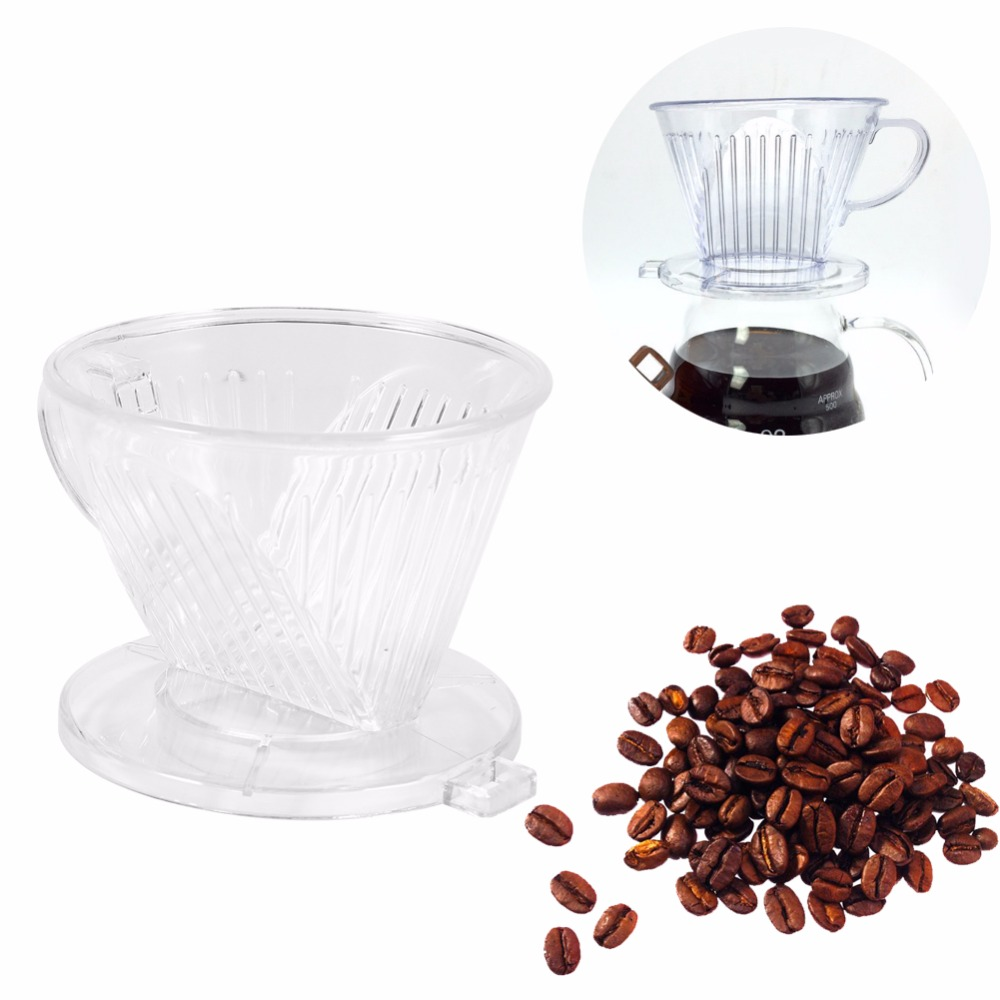 2017 New Arrival PP Resin Coffee Filter Cup Coffee Drip bowls Manually Follicular Filters Coffee Tea Tools High Quality