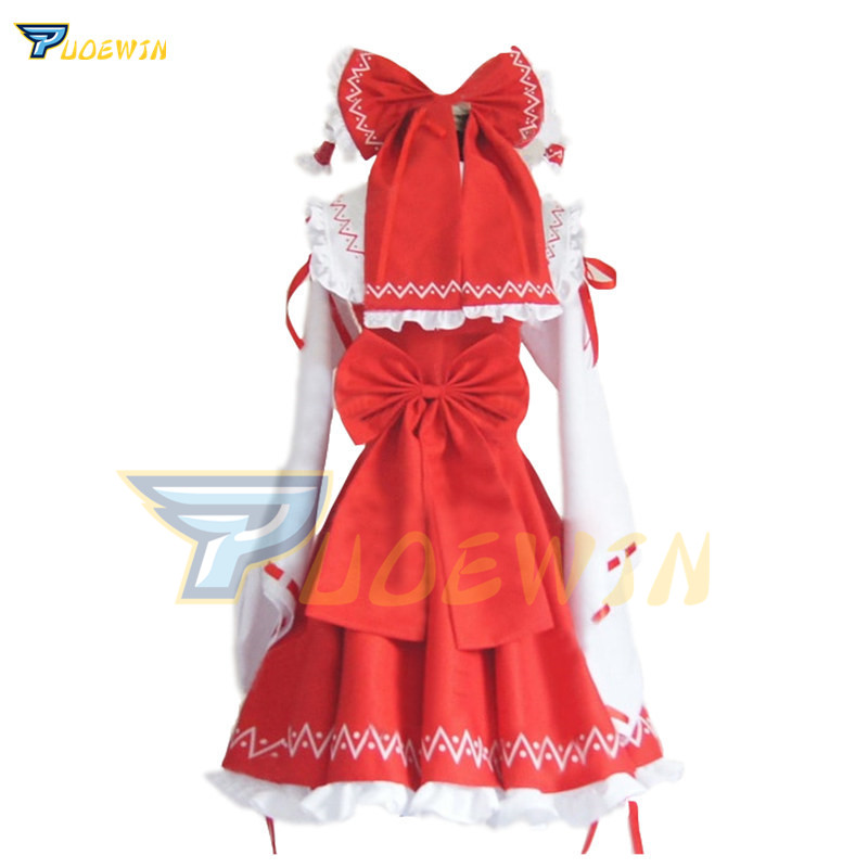 Anime Touhou Project Cosplay Costume Hakurei Reimu Reimu Hakurei Lolita Dress Halloween Costume Free Shipping
