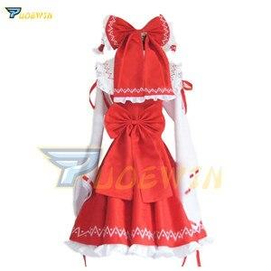 Image 4 - Costume Cosplay Hakurei Reimu Hakurei Lolita, projet Anime Touhou, robe de Costume dhalloween livraison gratuite