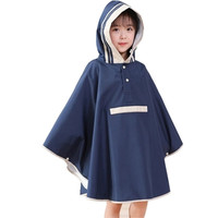 Cute Children Kids Raincoat Poncho Waterproof White Blue Rain Coat Outdoors Casaco Infantil Menina Poncho Travel Raincoat 50yc63