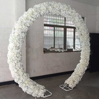 2018 New Arrival Wedding Decoration Arch Stand Store Opening Flower Frame Galvanized Shelf O and U two Shape Available