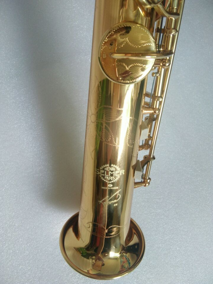 New Gold France Selma Henri 54 B flat Soprano saxophone High Quality musical instruments Soprano professional