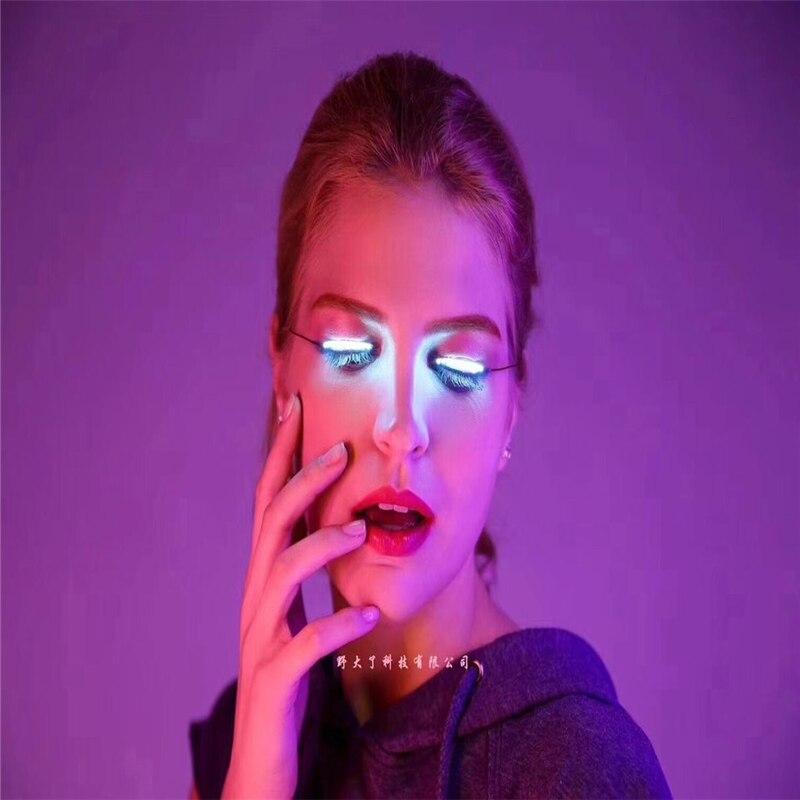 Ghost dance LED lamp Eyelash LED lamp Halloween Christmas Festival atmosphere LED lights Eyebrow lamp Disco dancing lights
