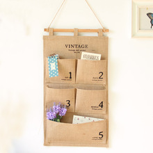 Multilayer Wall Hanging Bags Cloth Digital Pocket Hanging Storage Bag Pouch Rack Sundries Pouch Storage Organizer For Livingroom
