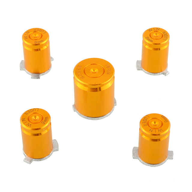 US $2 64 |Metal Gold Repair ABXY Guide Bullet Design Buttons Aluminium  Alloy For For Xbox 360 Controller Video on Aliexpress com | Alibaba Group