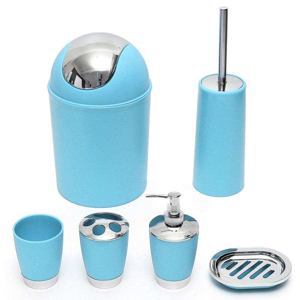 Etonnant 6Pcs/Set Bathroom Necessities Toothbrush Holder Toilet Brush Soap Dish Bin  Cup Sprayer Bottle Bathroom Accessories Sets  In Bathroom Accessories Sets  From ...