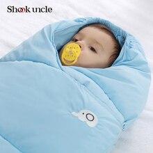От 0 до 2 лет Конверт для новорожденных спальный мешок коляска зима кровать Пеленальное Одеяло с запахом постельные принадлежности милые вышитые мешок для сна для малышей