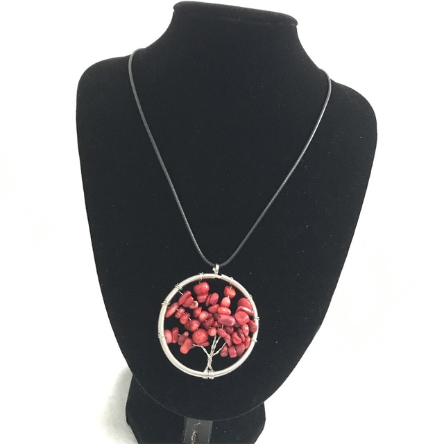 life of tree pendant necklace collares collier colar natural coral