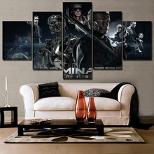 High Quality Canvas HD Printed Picture Home Decorative Living Room Wall Art 5 Panel Movie Terminator Genisys Role Painting