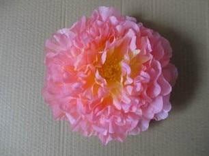 Искусственный Ткань 12 Слои 16 см большой пион роза цветок камелии головка для ювелирных изделий DIY Свадьба Рождество - Цвет: peach