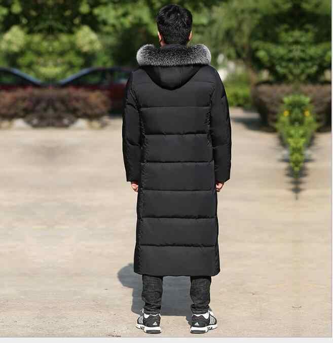 모피 트림 롱 남성 다운 코트 겨울 롱 오리 자켓 코트 후드 남성 다운 자켓 플러스 사이즈 S-10XL 2018 NEW Fashion