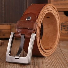 2020 belts men high quality full grain 100% real genuine leather natural soft strap camel girdle brown wide luxury cowboy 130 cm