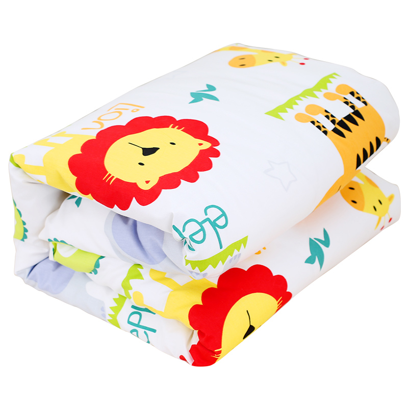 <font><b>130*100cm</b></font> Cotton Baby Quilt With Filling For Autumn Spring 1pcs Cute Print Infant Bedding Soft Breathable To Skin Baby Quilt image