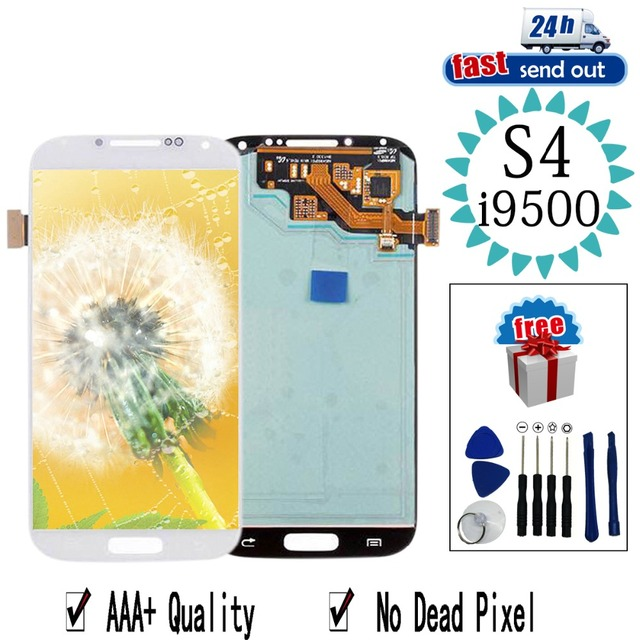 AMOLED LCD For SAMSUNG Galaxy S4 LCD Display  i9500 i9505 Touch Screen Tested Digitizer Assembly