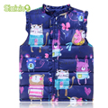 Sweet Floral Children's Girls Jackets Cotton Warm Kids Vest For Girl Waistcoat Children Outerwear For Kids Clothing 6-Style