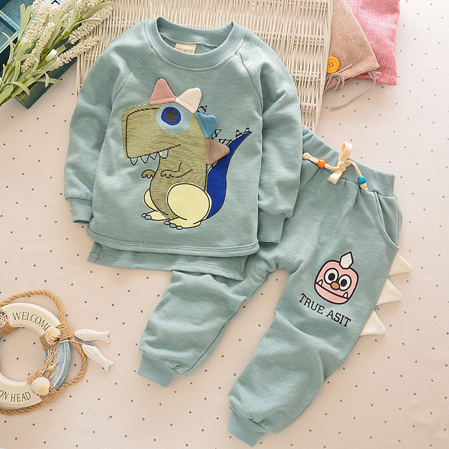 2 PCS do bebê da menina do algodão jaqueta + calça terno terno roupas de bebê primavera e no outono outono bebê dos desenhos animados vestuário desportivo
