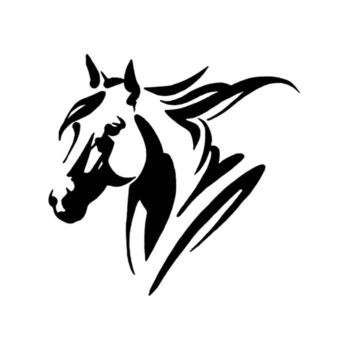 Horse Head Laptop Auto Truck Motor Wall Bumper Car Sticker
