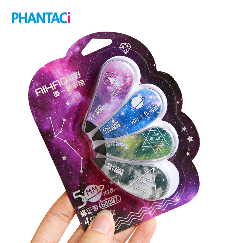 4 Pcs/lot Fantastic Starry Sky Correction Tape Promotional Gift Stationery Student Prize School Office Supply