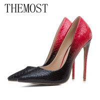 THEMOST 2017European And American Classic Fashion Sexy Pointed Shallow Mouth Ladies Single High Heel Shoes