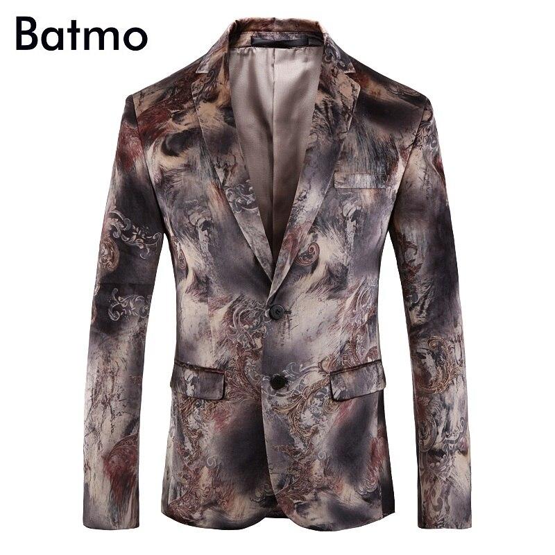 Batmo 2019 new arrival wysokiej jakości aksamitu drukowane casual blazers mężczyźni, męskie garnitury casualowe, na co dzień mężczyźni kurtka plus size 203 w Marynarki od Odzież męska na AliExpress - 11.11_Double 11Singles' Day 1