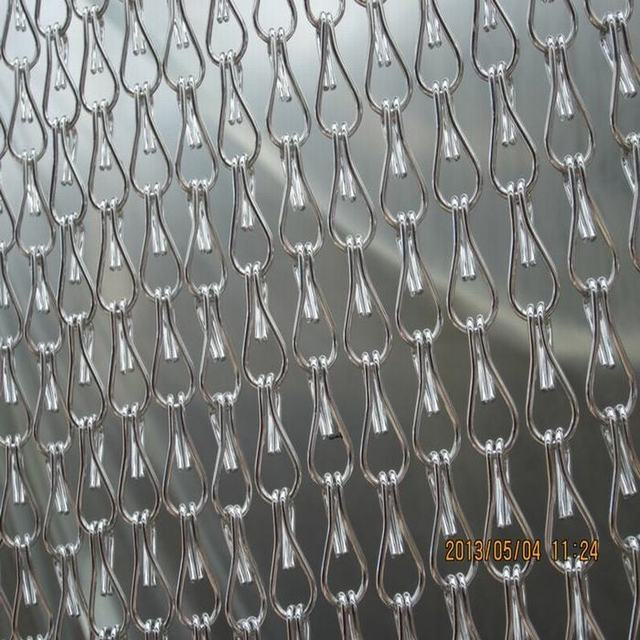 Anti corrosion Silver Aluminum Curtains in Chain for door and ...