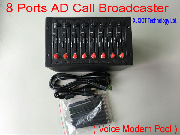 New Product : Advertising Call Broadcaster Modem Pool ! Great Innovative ! Send VOLUME AD Call ( Voice ) ! 8 ports Call Modem