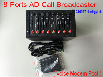 xjx New Product Advertising Call Broadcaster Modem Pool ! Great Innovative ! Send VOLUME AD Call ( Voice ) !  8 ports Call Modem