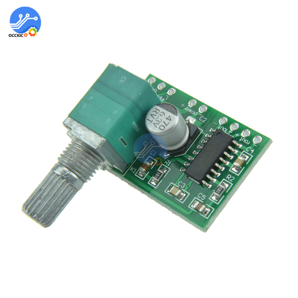 PAM8403 Amplifier Board 5V Power Audio Speaker Amplifier Board 2 Channel 3W Volume Control Power Modulo Amplificador