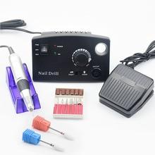 35000 об/мин, Профессиональный аппарат для маникюра, педикюра, набор, электрическая пилка с ФРЕЗОЙ, дрель для ногтей, инструмент для полировки