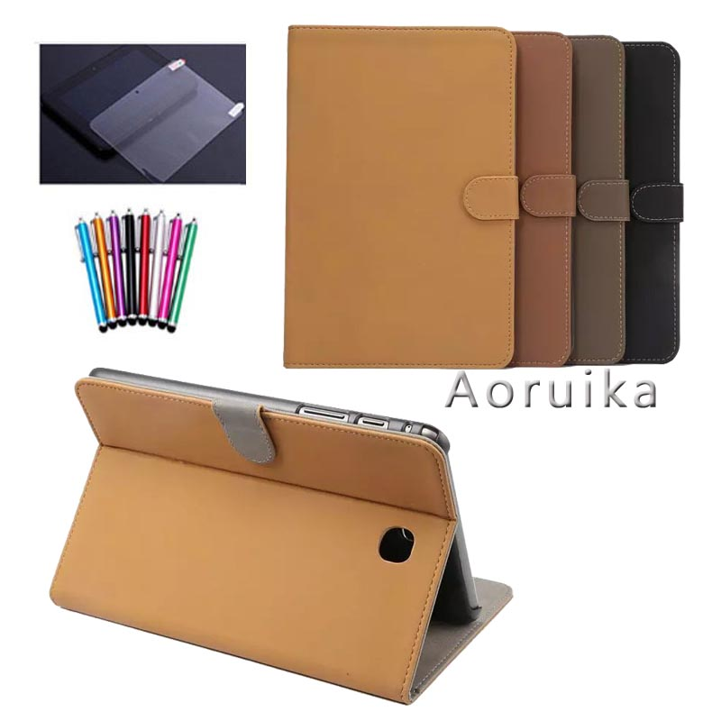 T550 T555 case for samsung galaxy tab A 9.7 SM-T550 SM-T555 SM-P550 P555 9.7'' tablet cover case+screen protector+stylus case for samsung galaxy tab a 9 7 t550 inch sm t555 tablet pu leather stand flip sm t550 p550 protective skin cover stylus pen