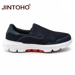 Image 2 - JINTOHO grande taille été hommes chaussures décontractées sans lacet hommes mocassins respirant hommes baskets décontracté mâle chaussures marque mâle baskets