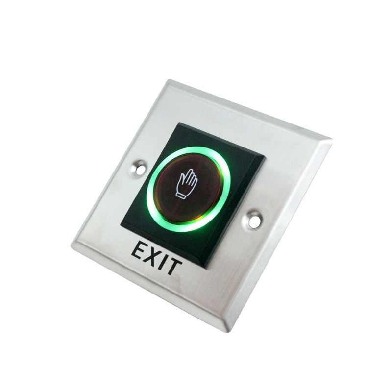 Door Lock  Infrared Sensor Switch No Touch Contactless Door Release Exit Button With LED Indication