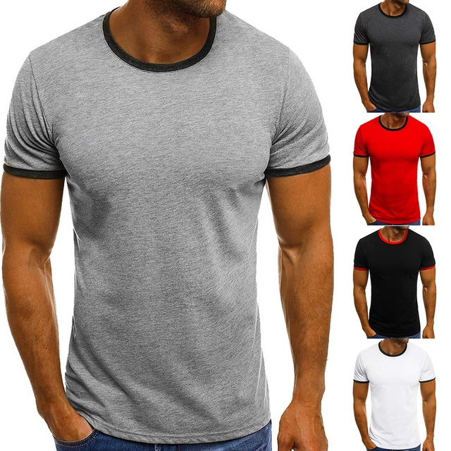Litthing 2019 Brand New Men's Cotton T Shirt Solid Color Tee Tops Fashion 5 Colors Camiseta Masculina Casual O Neck Tee Shirt
