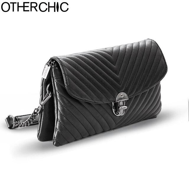 OTHERCHIC Women Black Crossbody Bag Fashion Clutch Bag Women Designer Messenger  Bags Women Brand Handbag Shoulder 32b9e9697f689