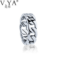 VYA 925 Sterling Silver Ring For Women 100 Real S925 Solid Silver Rings For Lovers Men