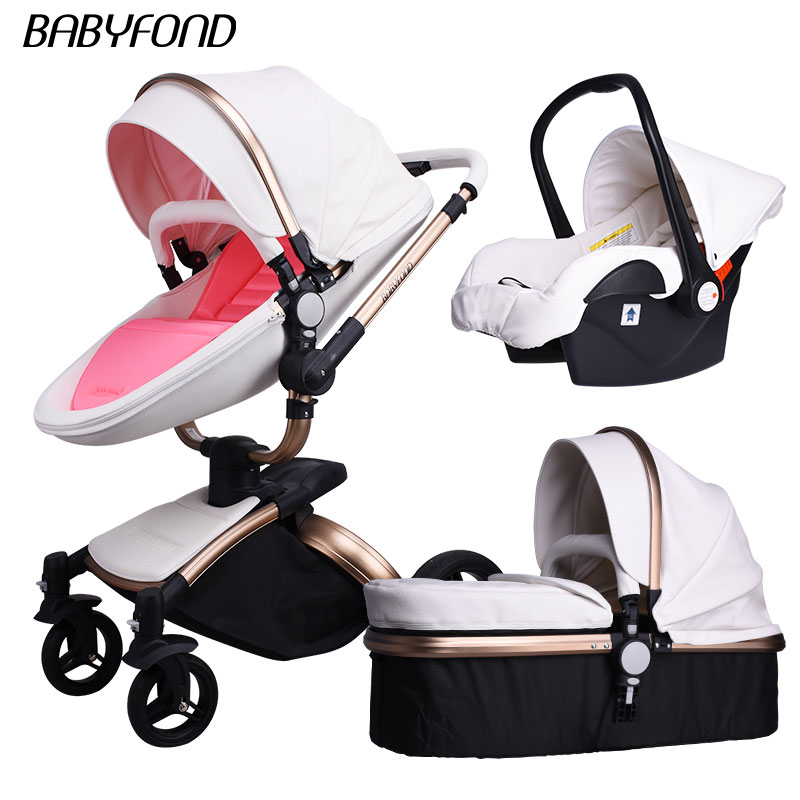 Brand Baby Strollers 3 In 1 Eu High Quality Safety 2 In 1