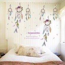 Quote Dreamcatcher Dream Catcher Vinyl Removable Stickers Nursery Kids Bedroom Bathroom Window Showcase Decor Mural Wall Decals